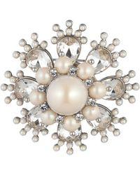Carolee Burst Pin - White