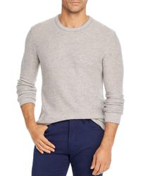 Bloomingdale's Wool & Cashmere Honeycomb Sweater - Gray
