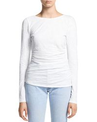 Theory Nebulous Long Sleeve Top - White