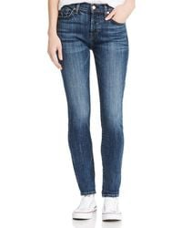 7 For All Mankind Josefina Boyfriend Jeans In Broken Twill Plaza - Blue