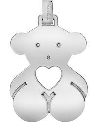 Tous Bear With Heart Pendant - Metallic