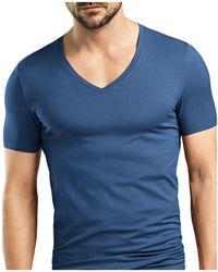 Hanro | Stretch Cotton Superior V-neck Short Sleeve Shirt | Lyst