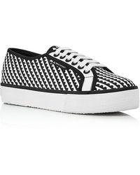 Mary Katrantzou X Superga Superga Lace Up Sneakers - Black