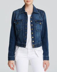 Current/Elliott - Jacket - The Snap Jacket In Loved Wash - Lyst