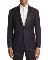 Armani - Emporio G - Line Tonal - Printed Tailored Fit Jacket - Lyst