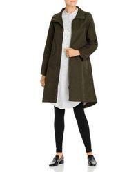 Eileen Fisher High/low Zip - Front Coat - Multicolour