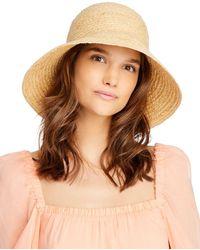 Aqua Raffia Bucket Hat - Natural