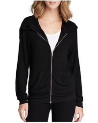 Wildfox Basic Solid Track Suit Hoodie - Black
