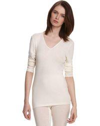 Hanro - Woolen Silk Basic Long Sleeve Shirt - Lyst
