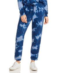 Aqua Athletic Tie - Dye Drawstring Joggers - Blue