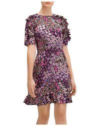 Kate Spade Pacific Petals Smocked Dress - Black