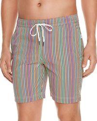 Onia - Charles Rainbow-stripe Swim Trunks - Lyst