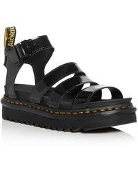 Dr. Martens Blaire Ankle - Strap Platform Sandals - Black