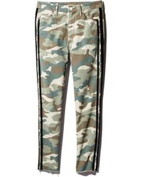 Mother - Looker High-rise Camo Track Stripe Skinny Jeans In See Me Run Black - Lyst
