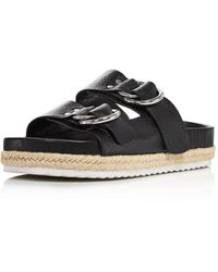 Aqua Women's Kai Slip On Espadrille Sandals - Black