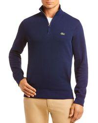 Lacoste Quarter - Zip Classic Fit Sweater - Blue