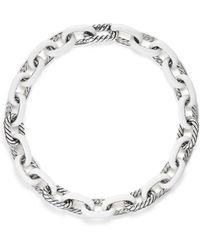 David Yurman - Madison Chain Enamel Necklace In White - Lyst