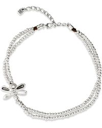 Uno De 50 Lil Double - Strand Dragon Fly Necklace - Metallic