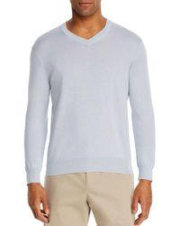 Bloomingdale's V - Neck Cotton - Cashmere Sweater - Multicolor