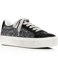 Aqua Play Lace Up Platform Sneakers - Black