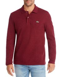 Lacoste Long Sleeve Polo Shirt - Red