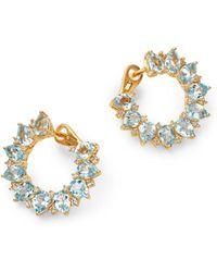 Kiki McDonough - 18k Yellow Gold Juno Blue Topaz & Diamond Sunflower Earrings - Lyst