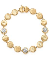 Marco Bicego | 18k Yellow Gold Diamond Pavé Jaipur Link Small Beaded Bracelet | Lyst