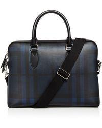 Burberry - The Barrow Check Slim Briefcase - Lyst