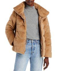Herno Faux Fur Teddy Coat - Multicolour