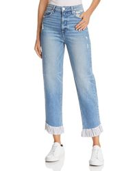 PAIGE - Sarah High Rise Straight Jeans In Belfast - Lyst