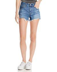 Levi's 501 Cutoff Denim Shorts In Indigo Ave - Blue