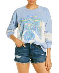 Aqua Lauren Moshi X Thunderbird Sweatshirt - Blue