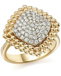 Bloomingdale's Diamond Pavé Square Statement Ring In 14k White And Yellow Gold - Metallic