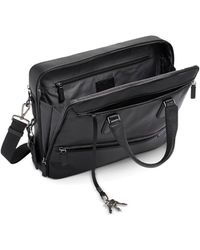 Tumi Harrison Harrow Double Zip Briefcase - Black