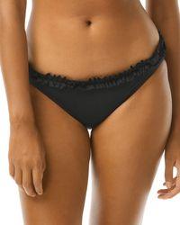 Kate Spade Mini Ruffle Bikini Bottom - Black