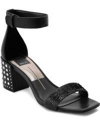 d9d6ee18007445 Dolce Vita - Women s Dora Studded Block Heel Sandals - Lyst
