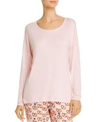 Jane & Bleecker New York Long - Sleeve Pajama Top - Pink