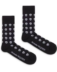 Alexander McQueen - Skull Short Socks - Lyst