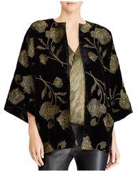 Ralph Lauren   Lauren Metallic Velvet Kimono Jacket   Lyst