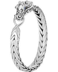 John Hardy - Sterling Silver Legends Naga Bracelet With Blue Sapphire Eyes - Lyst