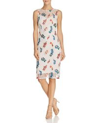Adrianna Papell - Floral Embroidered Lace Dress - Lyst