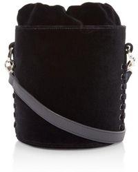 meli melo - Santina Mini Velvet Bucket Bag - Lyst