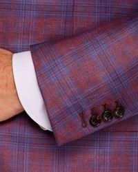 Cardinal Of Canada Open Plaid Regular Fit Sport Coat - Purple