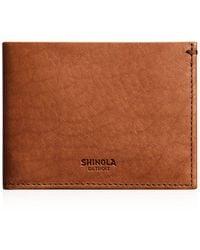 Shinola - Slim Billfold Wallet - Lyst