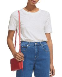 Whistles Rosa Double Trimmed Tee - Pink