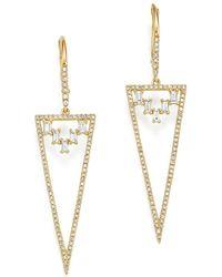 KC Designs | 14k Yellow Gold Mosaic Diamond Statement Earrings | Lyst