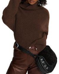 Rag & Bone Pierce Cashmere Turtleneck Relaxed Fit Sweater - Green