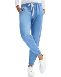 7 For All Mankind Drawstring Jogger Trousers - Blue