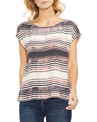 Vince Camuto - Zen Bloom Striped Top - Lyst