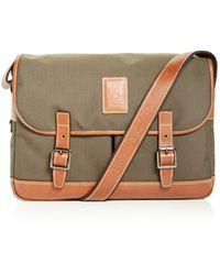 Longchamp Boxford Medium Canvas Briefcase - Brown